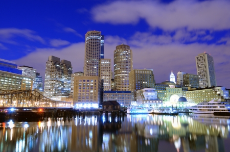 Photo for Financial District of Boston, Massachusetts viewed from Boston Harbor. - Royalty Free Image