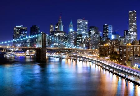 Foto de Skyline of downtown New York, New York, USA - Imagen libre de derechos