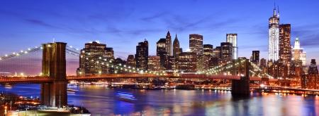 Foto de Lower Manhattan skyline in New York City. - Imagen libre de derechos