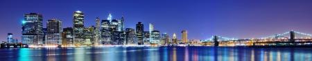 Photo pour Lower Manhattan skyline in New York City. - image libre de droit