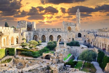 Photo pour Tower of David in Jerusalem, Israel. - image libre de droit