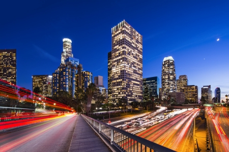 Foto de Downtown Los Angeles, California, USA skyline. - Imagen libre de derechos