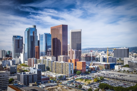 Photo pour Los Angeles, California, USA downtown cityscape. - image libre de droit