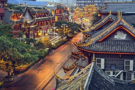 Photo for Chengdu, China at traditional Qintai Road district. - Royalty Free Image