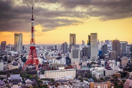 Photo pour Tokyo, Japan cityscape at sunset. - image libre de droit