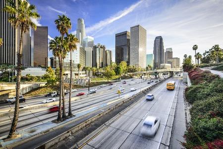 Photo pour Los Angeles, California, USA downtown cityscape. - image libre de droit
