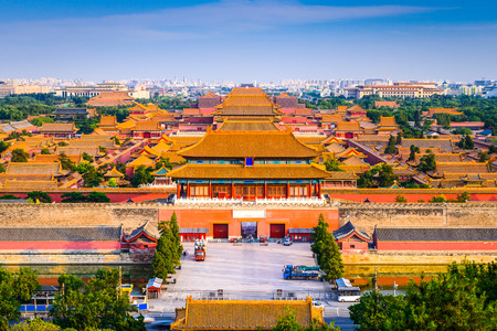 Photo for Beijing, China city skyline at the Forbidden City. - Royalty Free Image