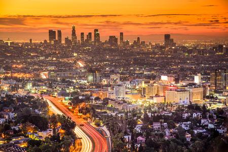 Photo pour Los Angeles, California, USA downtown skyline at dawn. - image libre de droit