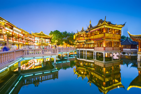 Photo for Shanghai, China view at the traditional Yuyuan Garden District. - Royalty Free Image