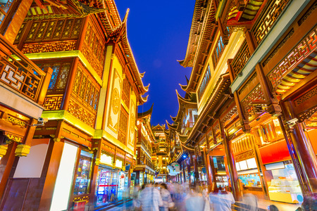 Photo for traditional Yuyuan District in Shanghai, China - Royalty Free Image