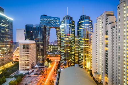 Photo pour Beijing, China Central Business District cityscape. - image libre de droit