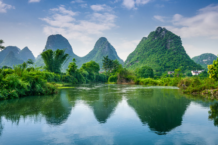 Photo for Karst Mountain landscape in Guilin, China. - Royalty Free Image
