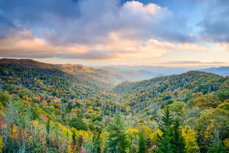 Photo for Smoky Mountains National Park, Tennessee, USA autumn landscape. - Royalty Free Image