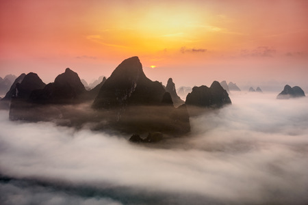 Photo for Guilin, China Karst mountains. - Royalty Free Image