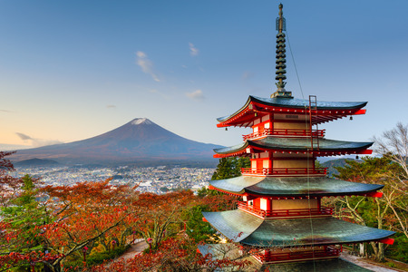 Mt. Fuji, Japan from Chureito Pagoda.