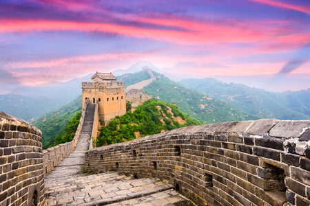 Foto de Great Wall of China at the Jinshanling section. - Imagen libre de derechos