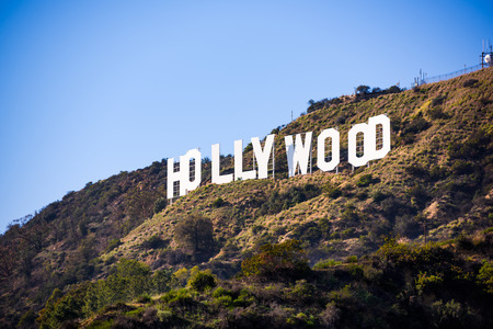 Photo pour LOS ANGELES _ FEBRUARY 29, 2016: The Hollywood sign on Mt. Lee. The iconic sign was originally created in 1923. - image libre de droit