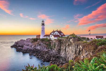 Photo pour Portland, Maine, USA at Portland Head Light. - image libre de droit
