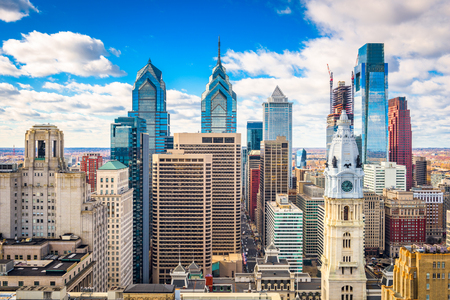 Photo pour Philadelphia, Pennsylvania, USA downtown city skyline. - image libre de droit