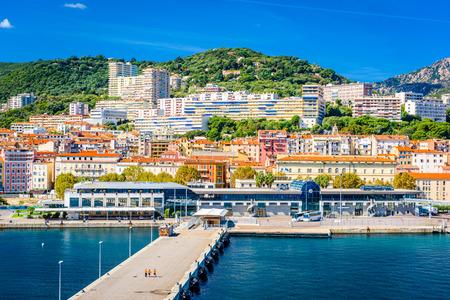 Photo for Ajaccio, Corsica, France coastal skyline. - Royalty Free Image