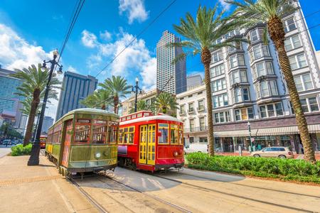 Photo pour New Orleans, Louisiana, USA street cars. - image libre de droit