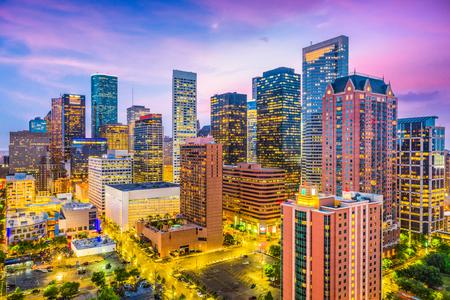 Photo pour Houston, Texas, USA downtown city skyline. - image libre de droit