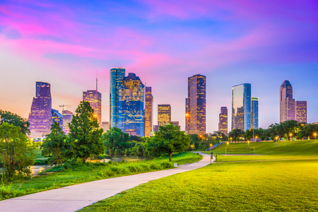 Photo pour Houston, Texas, USA downtown city skyline. - image libre de droit