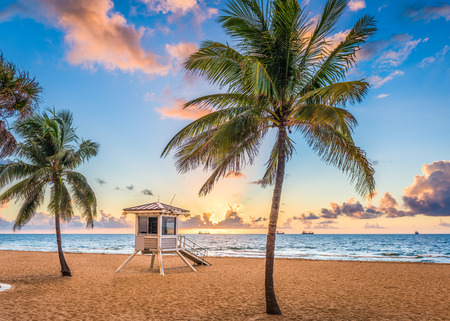 Foto de Fort Lauderdale, Florida, USA at the beach. - Imagen libre de derechos