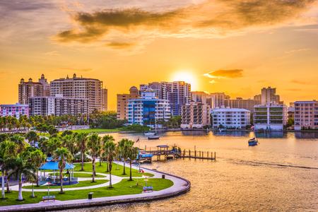 Photo for Sarasota, Florida, USA downtown skyline on the bay. - Royalty Free Image