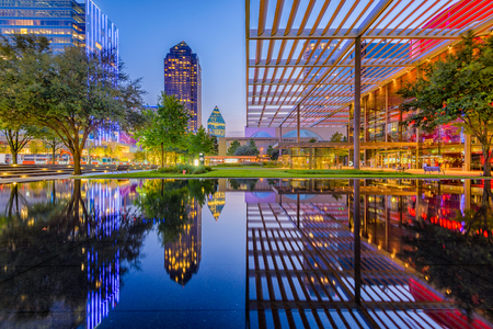Photo for Dallas, Texas, USA downtown cityscape at twilight. - Royalty Free Image