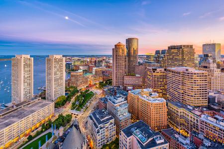 Photo for Boston, Massachusetts, USA downtown cityscape at dusk. - Royalty Free Image
