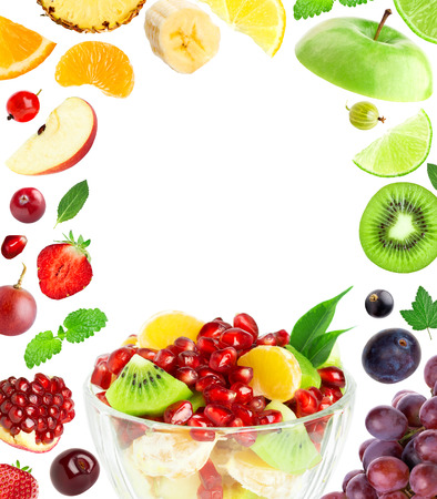 Foto per Fresh fruit salad. Mixed fruits. Fruit concept - Immagine Royalty Free