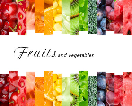 Foto per Fresh fruits and vegetables. Healthy food concept - Immagine Royalty Free