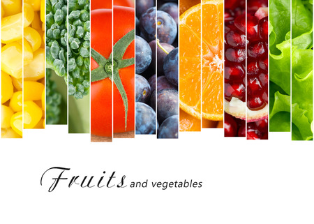Photo for Fresh fruits and vegetables. Healthy food concept - Royalty Free Image