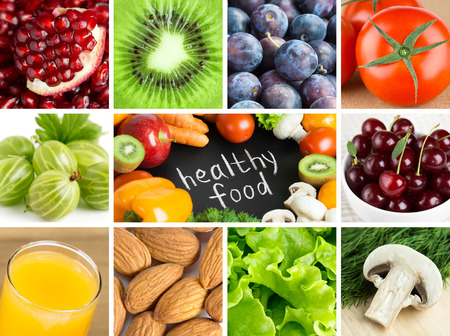 Photo pour Healthy food backgrounds - image libre de droit