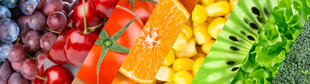 Foto für Color fruits, berries and vegetables. Healthy food background - Lizenzfreies Bild