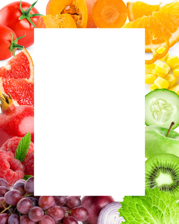 Photo pour Fresh color fruits and vegetables. Food concept - image libre de droit