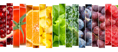 Photo pour Fruits and vegetables concept. Fresh food - image libre de droit