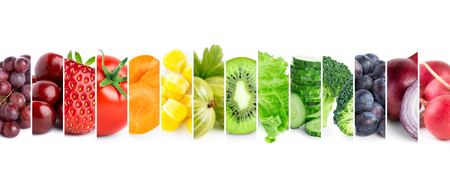 Foto per Fresh color fruits and vegetables. Healthy food concept - Immagine Royalty Free