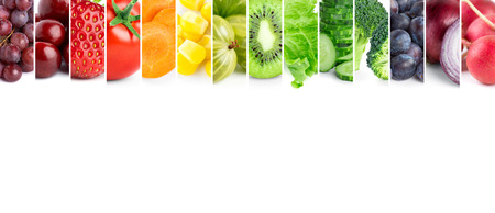 Photo for Healthy food .Fresh color fruits and vegetables - Royalty Free Image