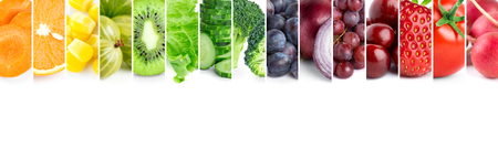 Foto per Fresh color fruits and vegetables - Immagine Royalty Free