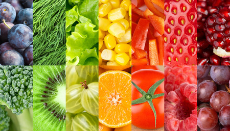 Photo for Fruits and vegetables background. Concept. Fresh food - Royalty Free Image