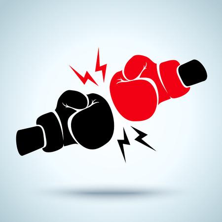 Ilustración de Two gloves for boxing - Imagen libre de derechos