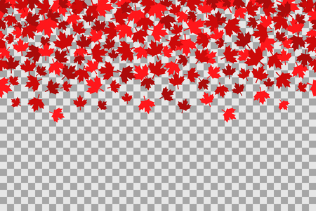 Illustration pour Seamless pattern with stars for 1st of July celebration on transparent background. Canada Day. - image libre de droit
