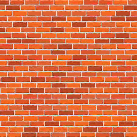 Illustration for Red brick wall background. Vector illustration - Royalty Free Image