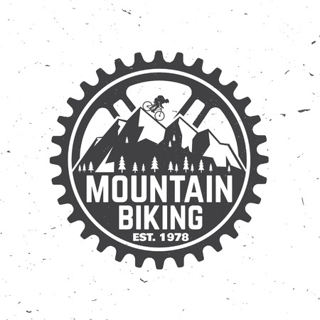 Illustrazione per Set of Mountain bikings clubs. Vector illustration. - Immagini Royalty Free