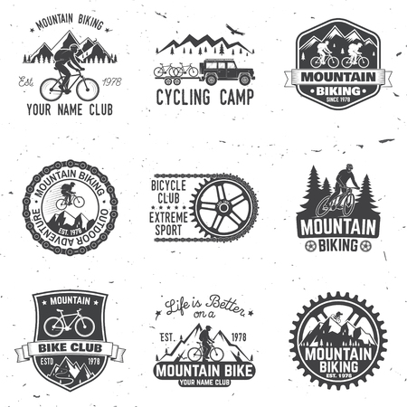 Illustration pour Set of Mountain bikings clubs. Vector illustration. - image libre de droit