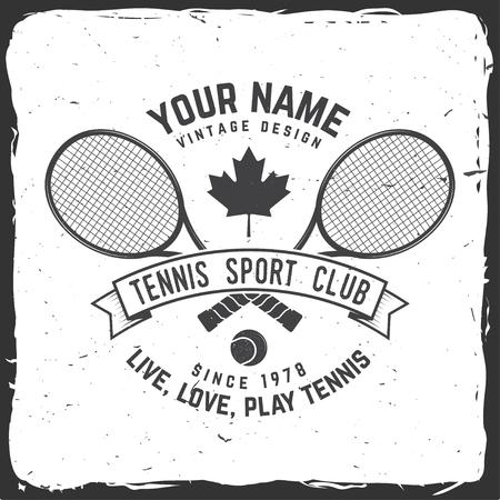 Tennis club logo icon symbol. Vector illustration.