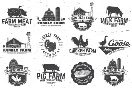 Illustration pour American Farm Badge or Label. Vector illustration. - image libre de droit