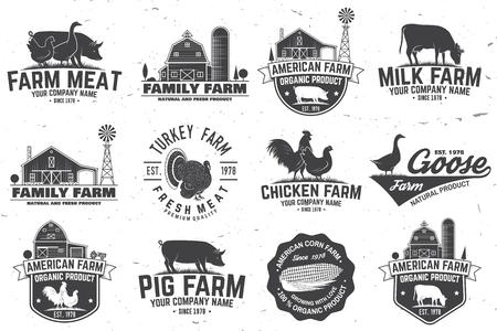 Illustration pour American Farm Badge or Label - image libre de droit